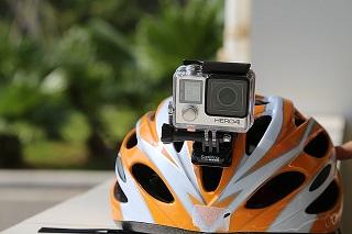 kamera på hjälm
